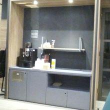 無料のコーヒーサービス。