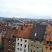 ニュルンベルクの街並みを見渡せます