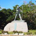 写真:オヤケアカハチの碑