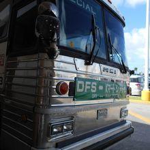 DFSの無料シャトルバスです