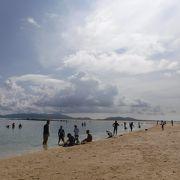 小浜島の沖に現れるサンドバー