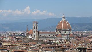 フィレンツェの眺めが見られる広場
