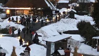 かやぶきの里 雪灯廊