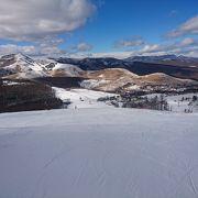 コンパクトで夕方まで日があたるスキー場