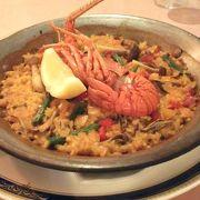 スペイン村でスペイン料理