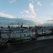 ハンブルクが港町であることを感じさせる場所
