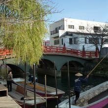 柳川観光開発の乗り場