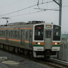 伊勢崎駅のJR線ホームから