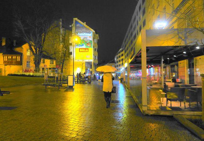 イエラチッチ広場からヨーロッパ広場に行く通り