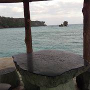 恩納村の公共ビーチ