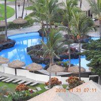 大人用プールと芝生のビーチベッドです。