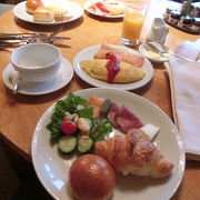 ちょっと贅沢な朝食ブッフェ