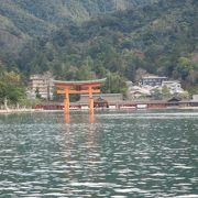 船から見る厳島神社