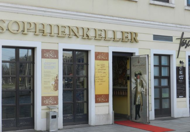 ドレスデン観光中心部のビアレストラン