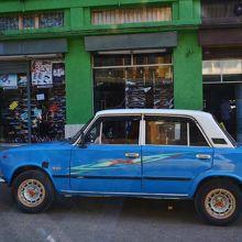 普通のタクシー