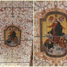 聖母マリアと天使が描かれた天井画