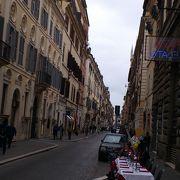 ポポロ広場からスペイン広場まで