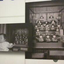 まさに私のと同じケース入り木目込のお雛様。1959年の写真