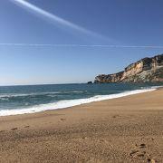 ナザレのきれいなビーチ