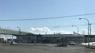 JR札幌駅から25分前後で到着「江別駅」