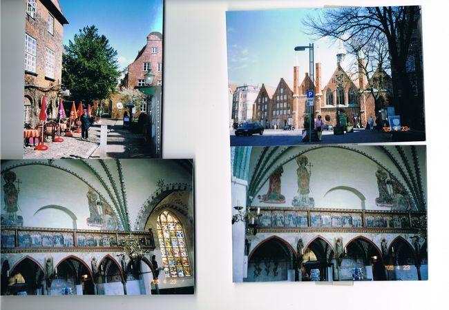 リューベック:聖女エリザベートの一代記の絵が飾られた聖霊養老院