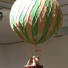 気球が飛んでる!