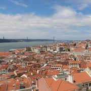 リスボン市街を望む巨大なキリスト像