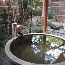 石庭の部屋風呂