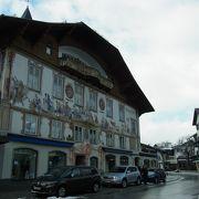 壁画が沢山書かれた町。