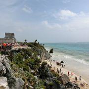 マヤ遺跡とビーチの組み合わせは最高