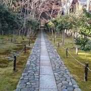 静かな庭園と運慶作と伝わる仏像のある「鹿王院」