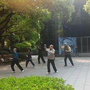 上海に住む人の憩いの場。婚活の場?