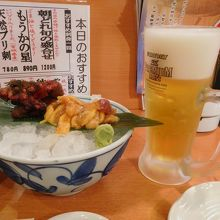 駅近の海鮮居酒屋です。