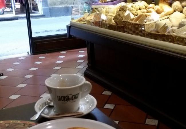コーヒーとフォカッチャ
