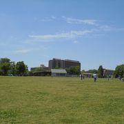 調布飛行場に隣接する大規模な公園(武蔵野の森公園)