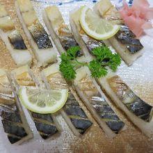 鯖寿司がここでしかない味!