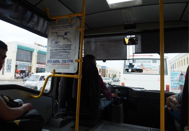 マルシュルートカ (乗り合いバス) ブハラ