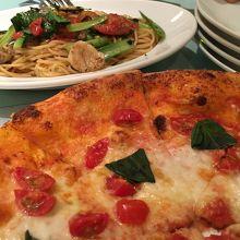 マルゲリータと野菜のパスタ