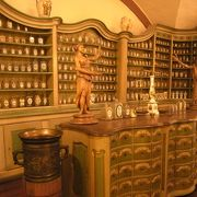 昔の薬局を想像できます。