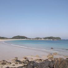 青い空、青い海、白い浜