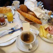 朝食を食べました!