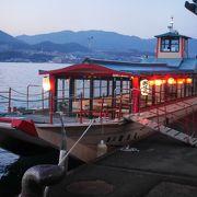 宮島の屋形船 夜のクルージング