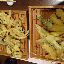 天ぷら。好きなものを注文
