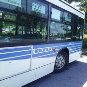 千葉埋め立ての部分をバスにて移動する