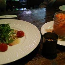 野菜のピクルス&鮮魚の刺身風ビネグレット