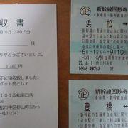 浜松~名古屋間の新幹線チケット~豊橋で分けていることにより1枚あたり3480円とかなりお得です~