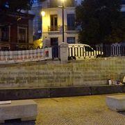 「リスボン寛容の都市」と書かれた壁があります。