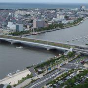 信濃川の最も下流にある橋