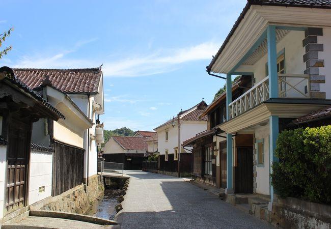 古い宿場町の風景