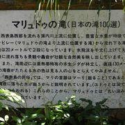 浦内川上流日本の滝百選の滝